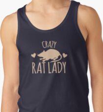 Crazy Rat Lady (in cream colour) Tank Top