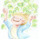 """Illustrazione per """"Filippo e gli alberi"""" by Francesca Romana Brogani"""