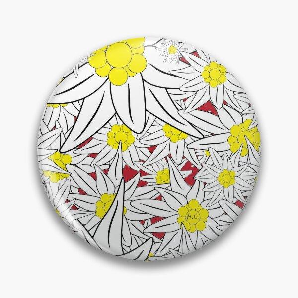 Edelweiss pattern Pin