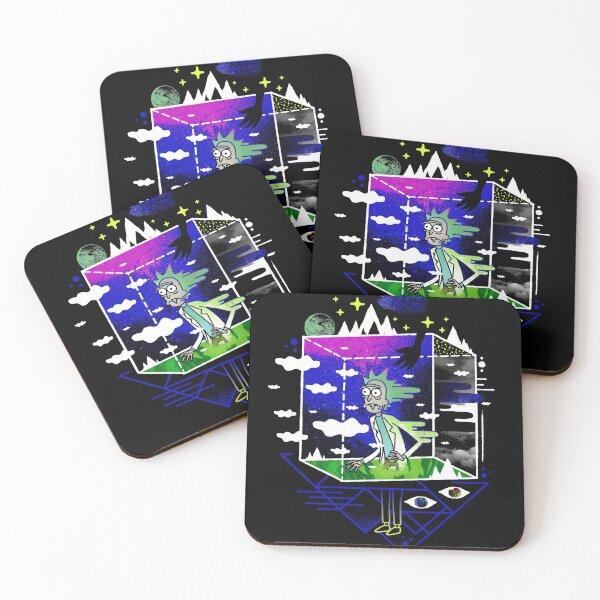 Dimensional Rick Coasters (Set of 4)