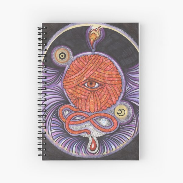 KNITCROMANCY: Unraveling the Cosmic Yarn Spiral Notebook
