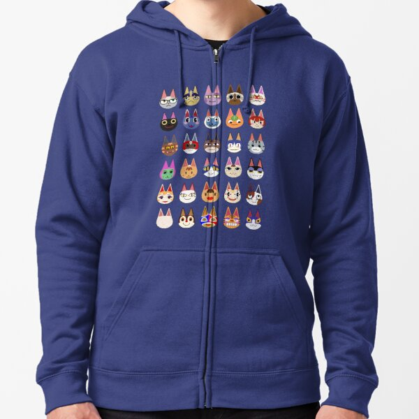 Cat Villagers  Zipped Hoodie