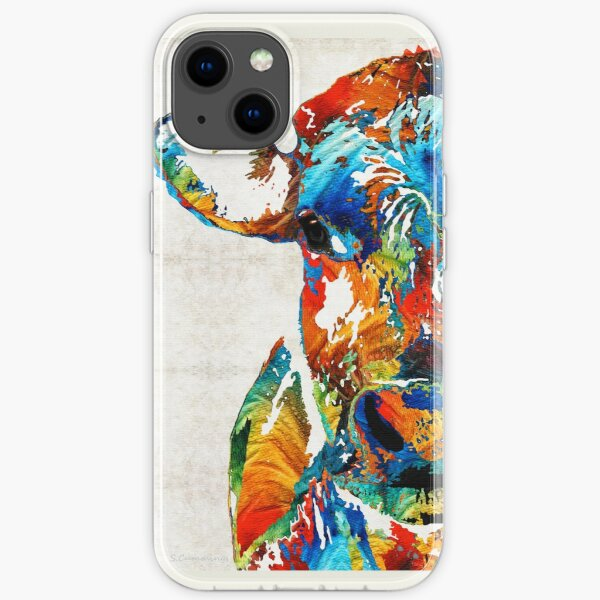 Colorful Cow Art - Mootown - By Sharon Cummings iPhone Soft Case