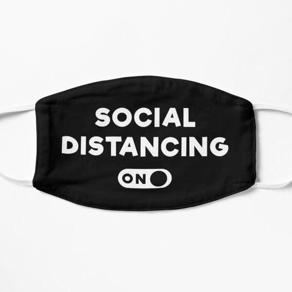 Social Distancing Face Mask Flat Mask