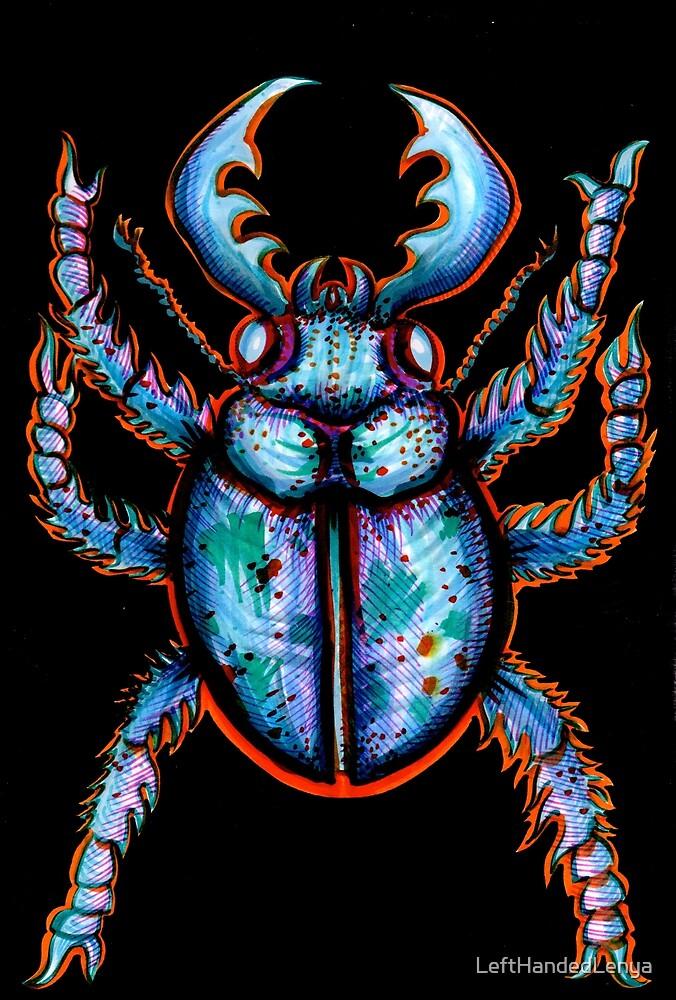 Carabidae: Pincers Poised, Eyes Gleaming by LeftHandedLenya