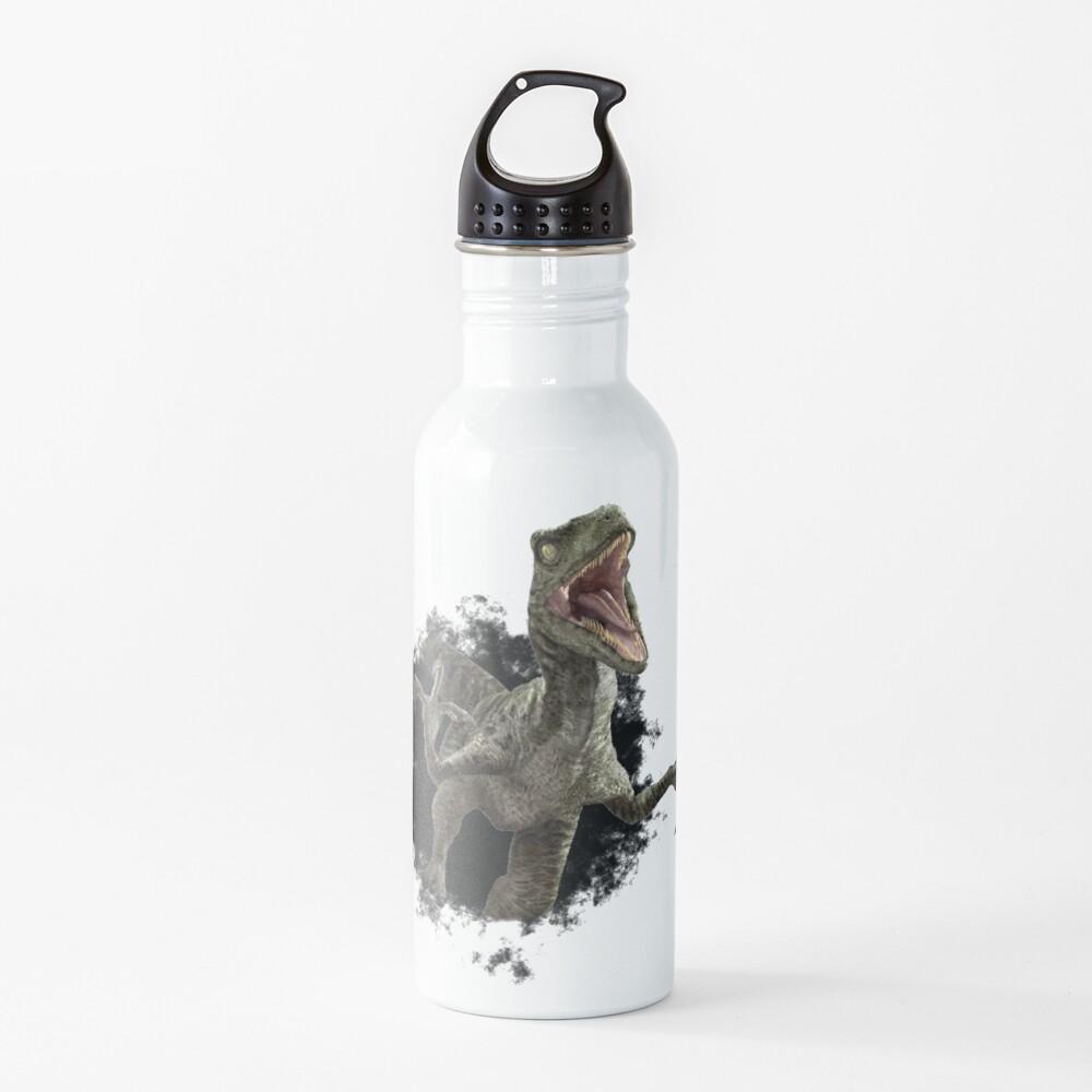 Raptor Dinosaur Velociraptor Hole Water Bottle