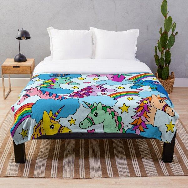 Unicorns and Rainbows    Magical Unicorn    Kids Throw Blanket