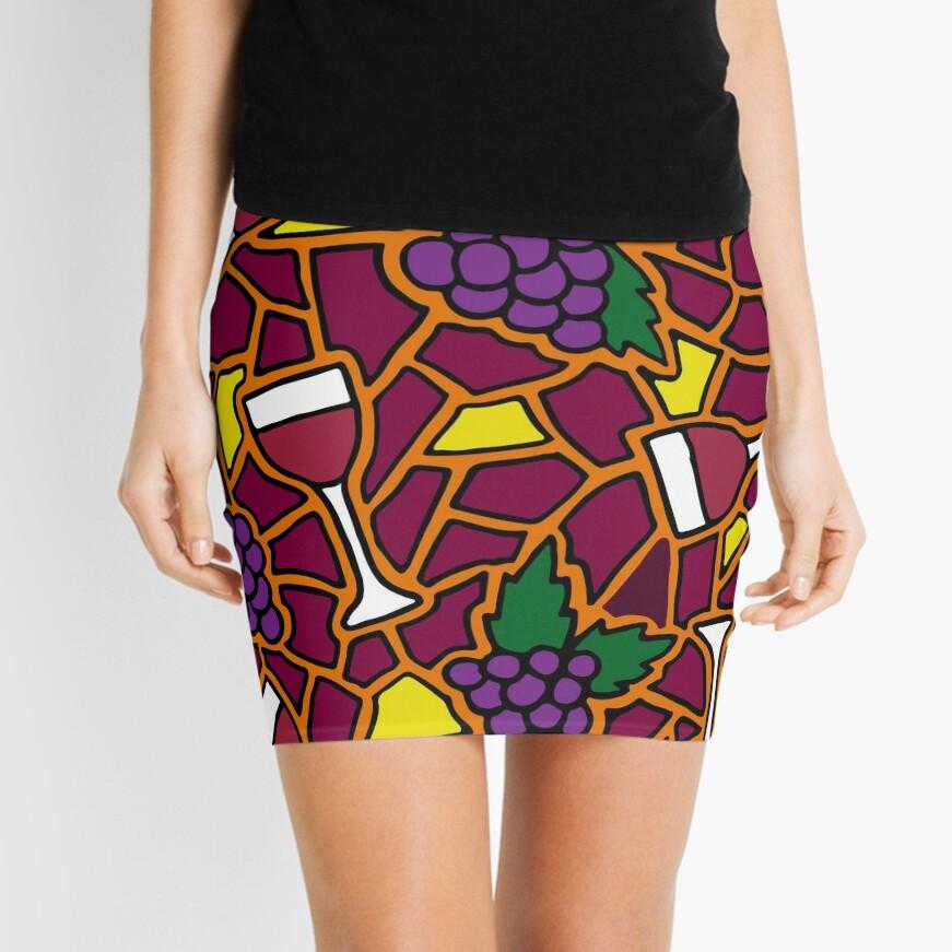 Wine Time || Happy Hour || Mosaic  Mini Skirt