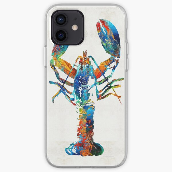 Colorful Lobster Art by Sharon Cummings iPhone Soft Case