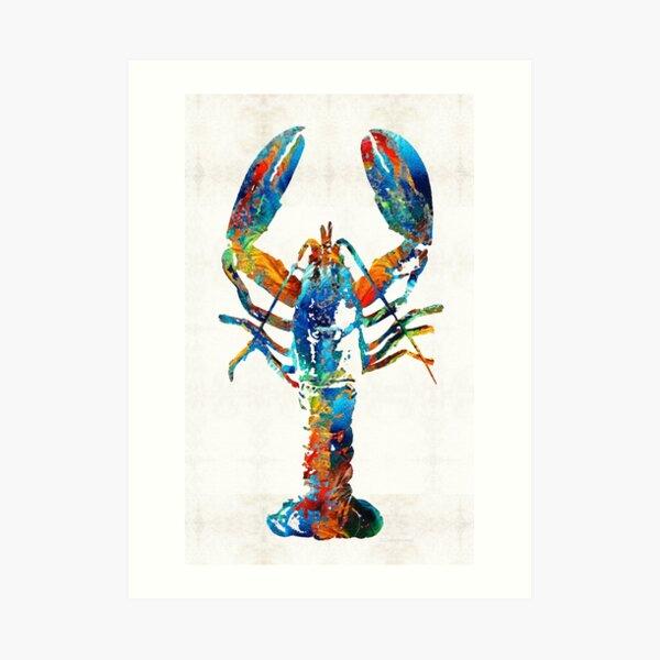 Colorful Lobster Art by Sharon Cummings Art Print