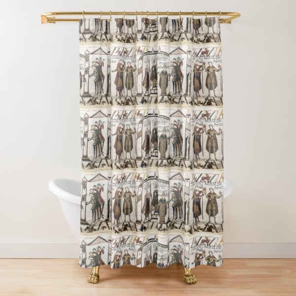 Coronation of Harold (Bayeux Tapestry) Shower Curtain