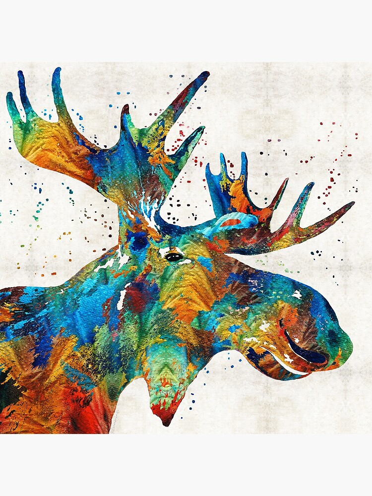 Colorful Moose Art - Confetti - By Sharon Cummings by SharonCummings