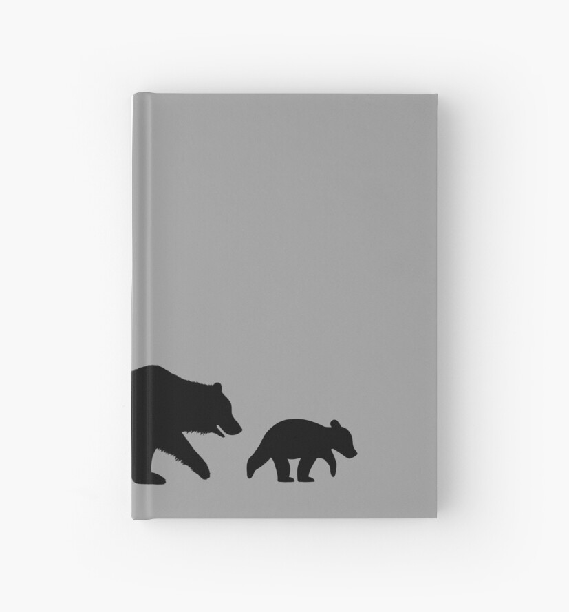 grizzly bear family silhouettes hardcover journals by jenn