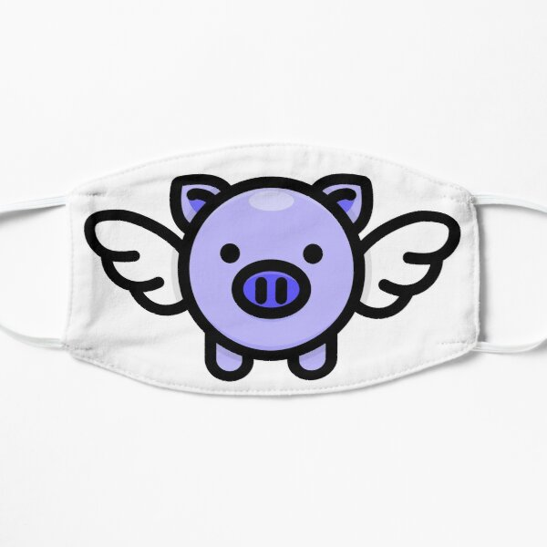 When Pigs Fly: Blue Small Mask