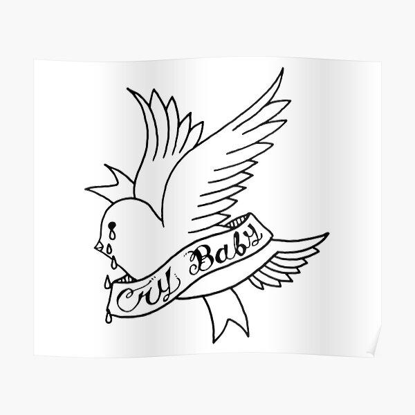 Lil Peep Crybaby Bird Póster