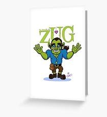 ZUG HUG-O-DAY! Greeting Card