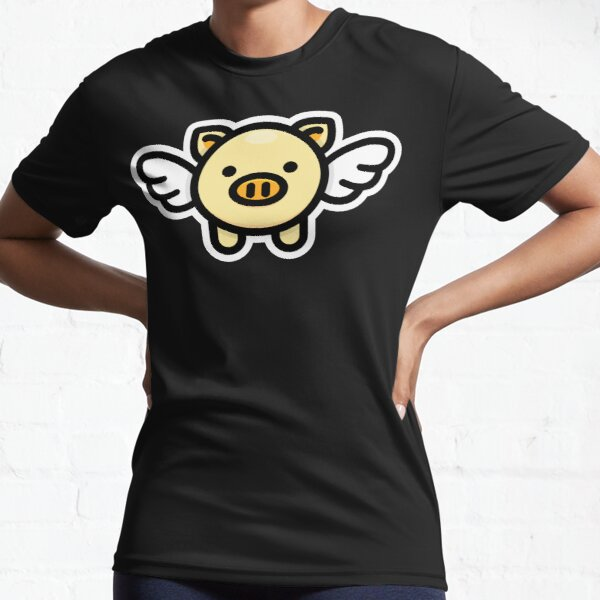 When Pigs Fly: Yellow Active T-Shirt