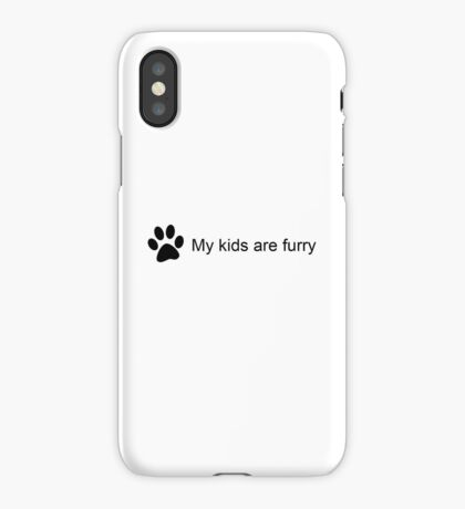 My Kids Are Furry (Cat Paw) iPhone Case/Skin