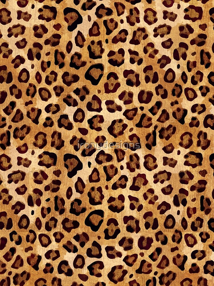 Rustic Texture Leopard Print  by ironydesigns