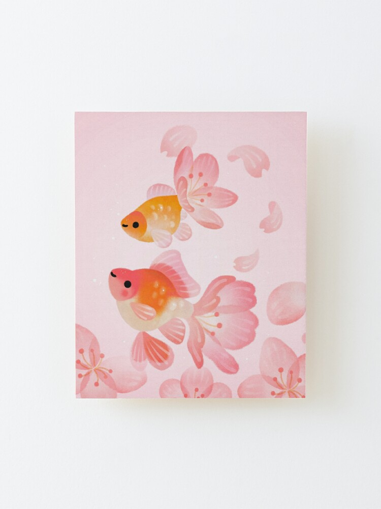 Alternate view of Cherry blossom goldfish 1 Mounted Print