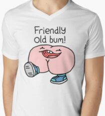 "Willy Bum Bum - ""Friendly Old Bum!"" Men's V-Neck T-Shirt"