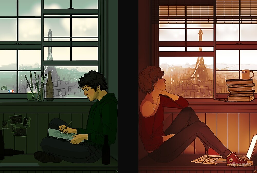 Enjolras & Grantaire by rdjpwnss