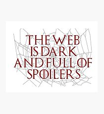 The Web is Dark and Full of Spoilers Photographic Print