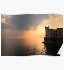 Miramare sunset Poster