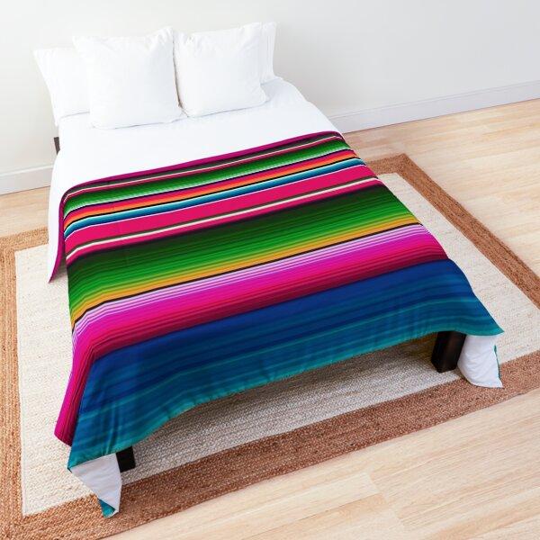 Mexican Blanket Striped Fiesta Serape  Comforter