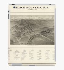 Panoramic Maps Black Mountain N C 1912 iPad Case/Skin
