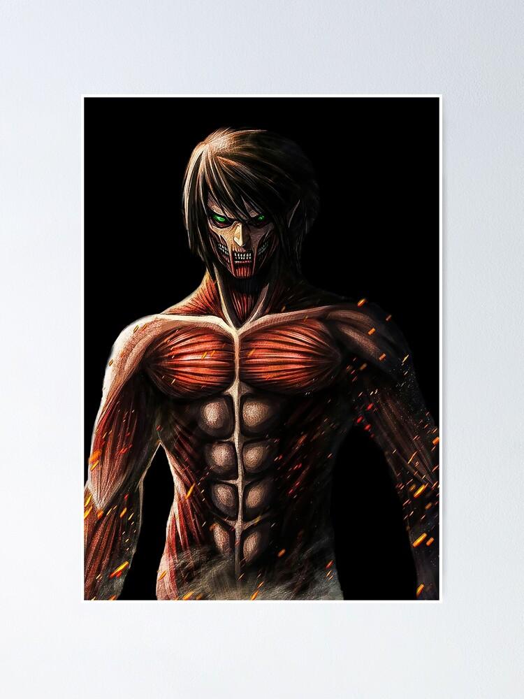 eren titan picture Eren Jaeger - Titan angreifen  Poster