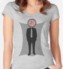 Clock-Face Women's Fitted Scoop T-Shirt