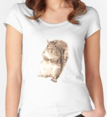 Squirrel t-shirt Women's Fitted Scoop T-Shirt