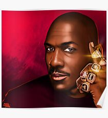 "MICHAEL JORDAN ""HIS ROYAL AIRNESS"" Poster"