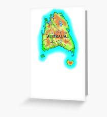 Tasmania's Australia Greeting Card