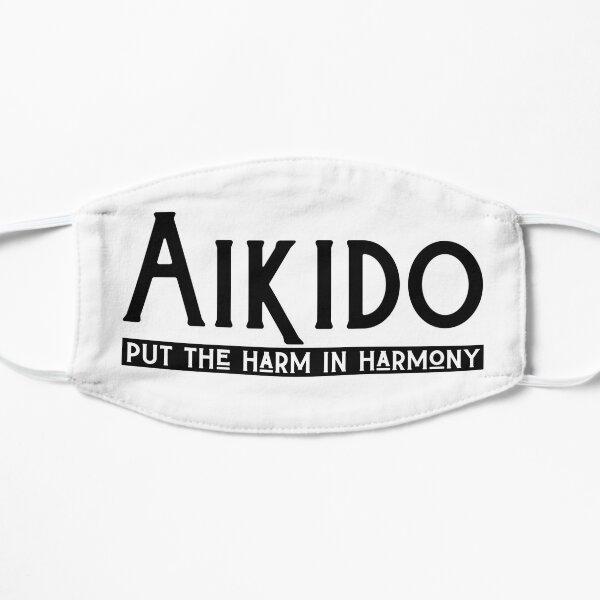 Aikido Funny T-Shirt Harm in Harmony  Flat Mask