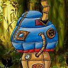 Blue Steampunk Mushroom by NuttyRachy