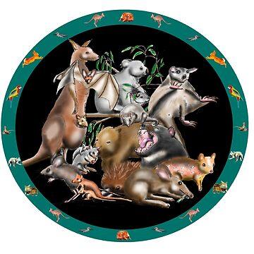 Australian fauna plate by davidfraser