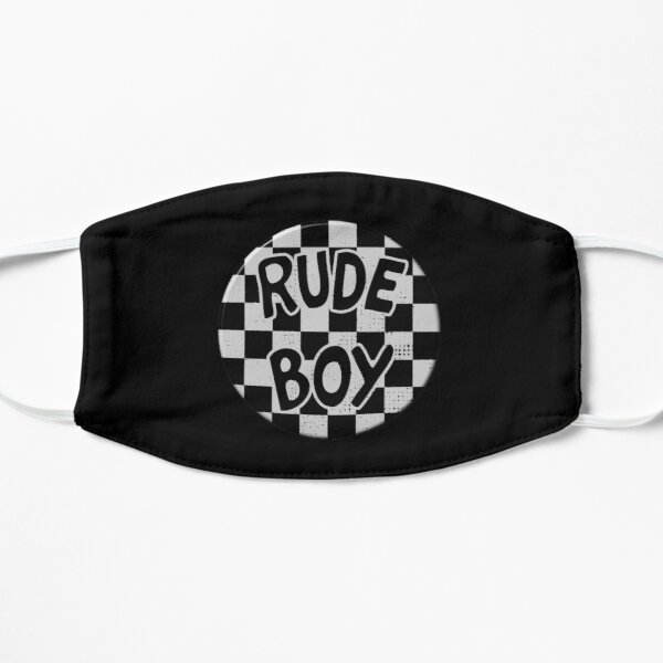 Rude Boy (badge style design) Mask