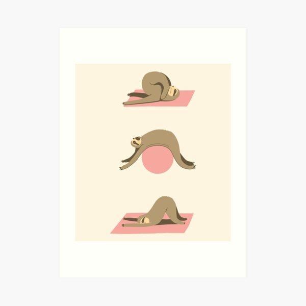 Sloth Pilates Art Print