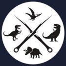 Hipster Dinosaurs Logo (black version) by jezkemp