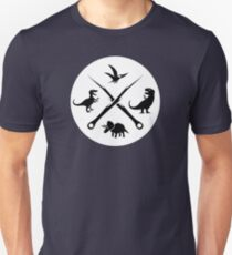 Hipster Dinosaurs Logo (black version) Unisex T-Shirt