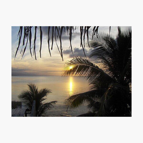 Sunset in San Pedro Sula, Honduras Photographic Print