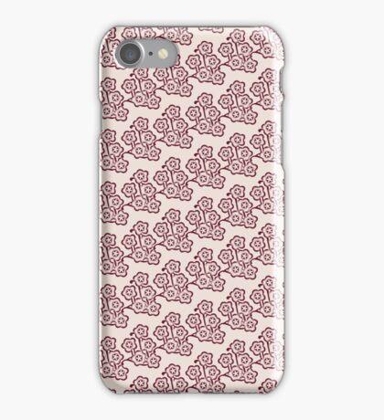 vintage pink blossom pattern iPhone Case/Skin