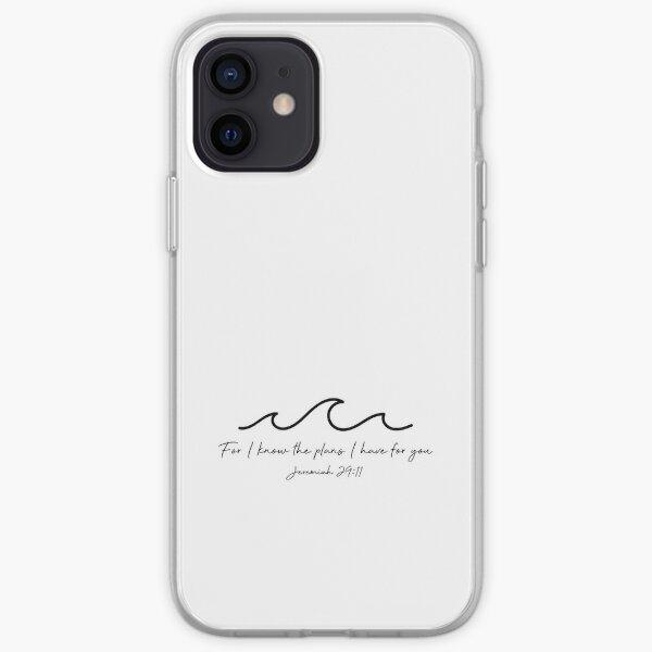 Jeremiah 29:11 Waves, Black iPhone Soft Case