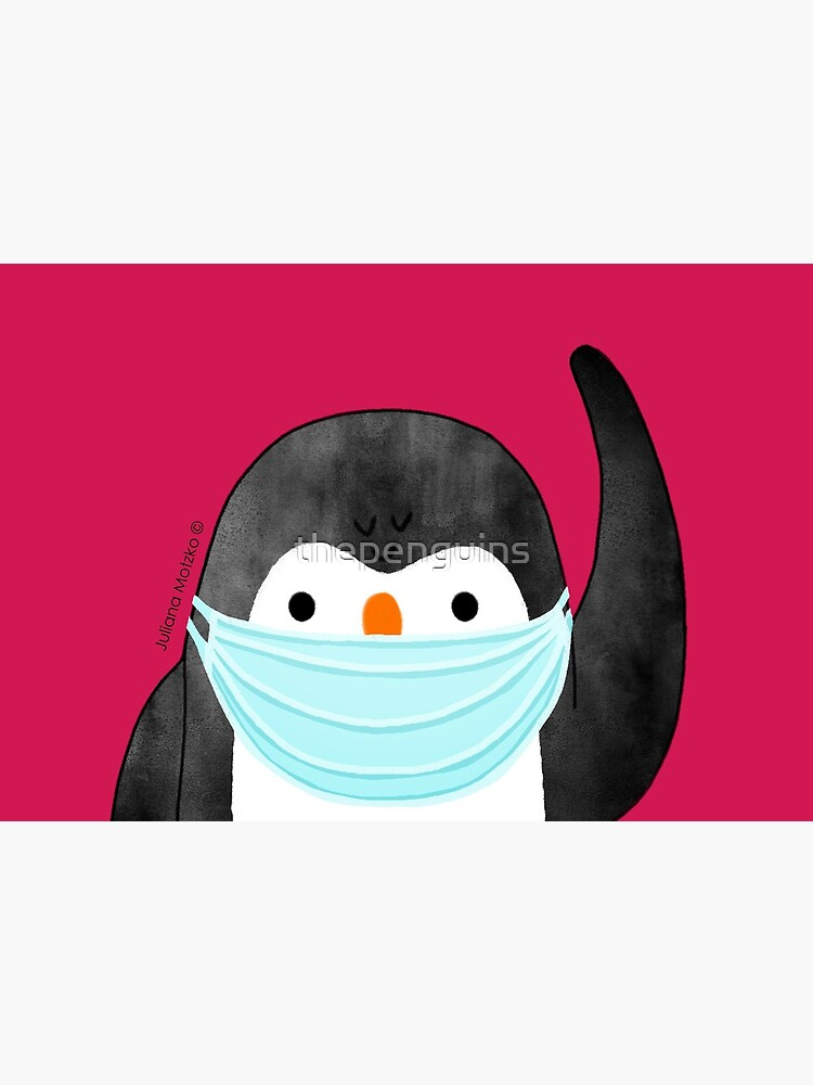 Penguin using mask against Covid Pandemic by thepenguins