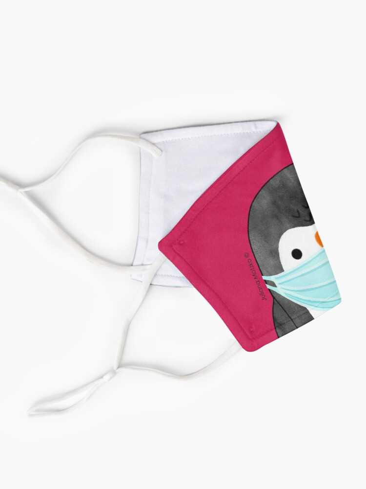 Alternate view of Penguin using mask against Covid Pandemic Mask