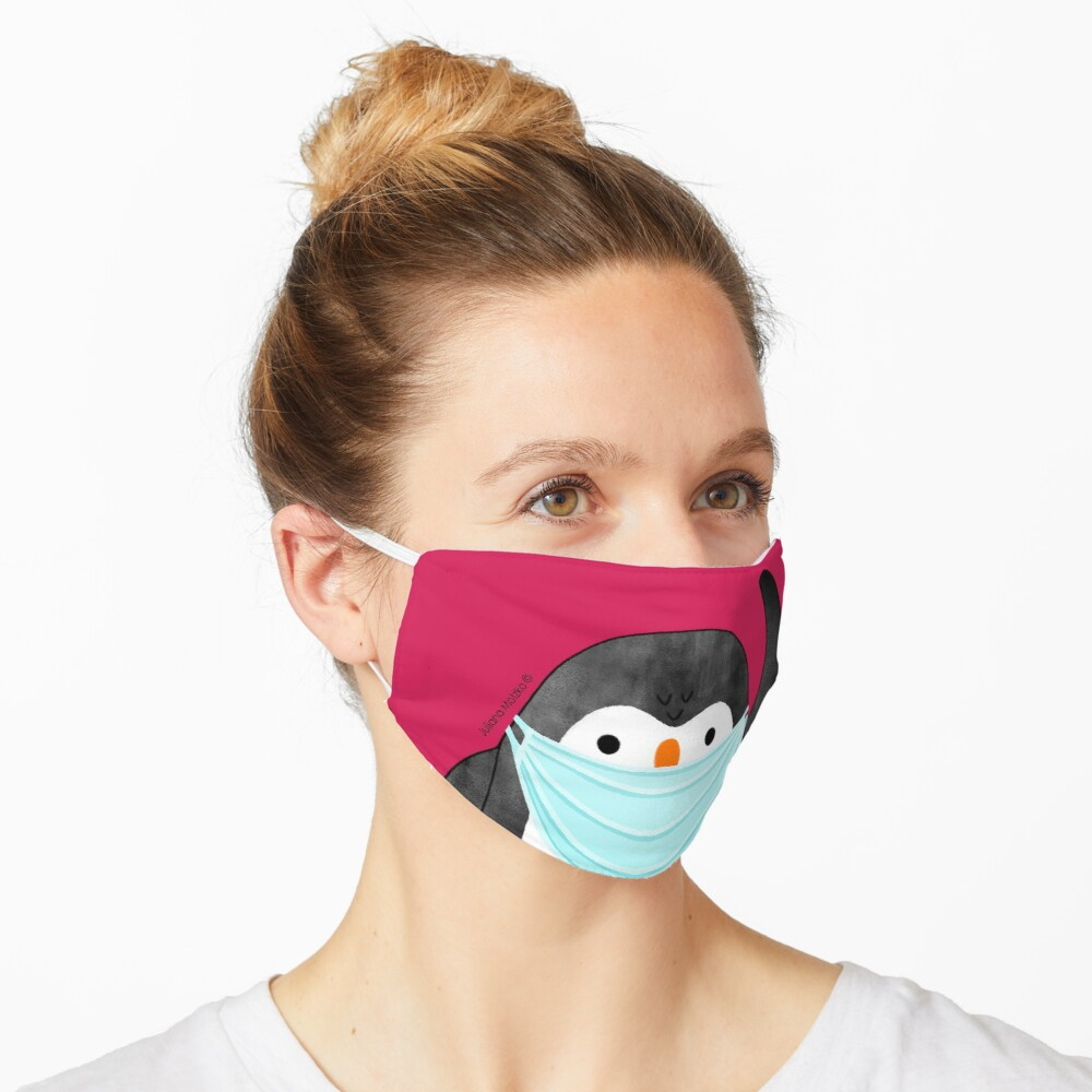 Penguin using mask against Covid Pandemic Mask