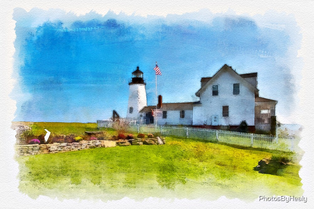 Pemaquid Lighthouse - watercolour by PhotosByHealy