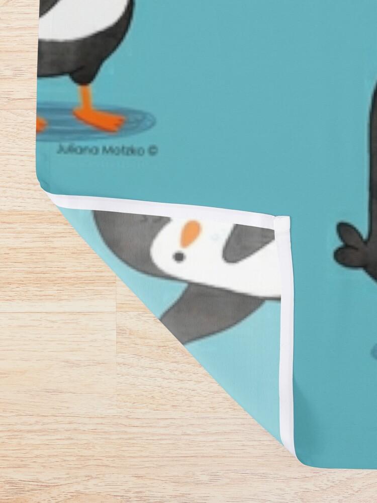 Alternate view of Spreading Love Penguin Shower Curtain